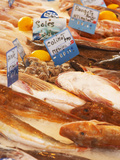 Street Market  Merchant's Stall with Fish  Sanary  Var  Cote d'Azur  France