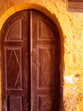 Old Brown Wooden Door  Rhodes  Dodecanese Islands  Greece