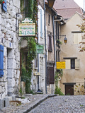 Cobblestone Street in Old Town with Stone Houses  Le Logis Plantagenet Bed and Breakfast