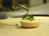 French Goat Cheese in Pastry  Clos Des Iles  Le Brusc  Cote d'Azur  Var  France