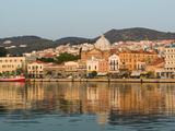 Waterfront View of Southern Harbor  Lesvos  Mithymna  Northeastern Aegean Islands  Greece