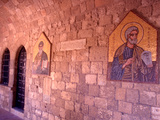 Wall Mosaics in the Cloister  Filerimos Monastery  Rhodes  Dodecanese Islands  Greece