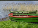 Colorful Canoe by Lake  Trakai  Lithuania