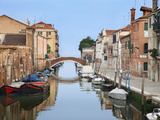 View Along City Canals  Venice  Italy