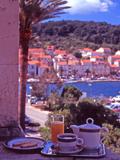 Breakfast Tea on Bedroom Balcony  Hotel Korcula  Korcula Island  Croatia