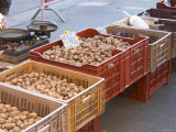 Walnuts and Dried Plums at Market Stall  Bergerac  Dordogne  France