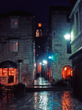 Korcula Old Town at Night  Croatia