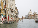 View of Motorboats on the Grand Canal  Venice  Italy