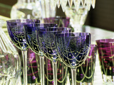 Crystal Glasses  Baccarat Museum Shop and Restaurant  Hotel De Noailles  Paris  France