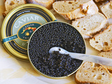 Tin of Black Caviar and Mother-Of-Pearl  Caviar Et Prestige  Saint Sulpice Et Cameyrac