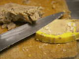 Slice of Foie Gras  Ferme De Biorne Duck and Fowl Farm  Dordogne  France