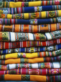 Stack of Colorful Blankets for Sale in Market  Peru