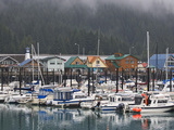 Harbor in the Coastal Town of Seward  Alaska  USA