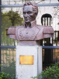 Bust Depicting Simon Bolivar El Libertador at Military Building  Montevideo  Uruguay