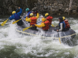 Rafting Action on the Salmon River  Idaho  USA