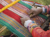Woman Weaving  Traditional Backstrap Loom  Cuzco  Peru