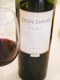 Bottle and Glass of Don David Malbec  Restaurant in Sheraton Hotel  Bodega El Esteco Mendoza