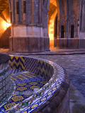 Tile and Columns in Early Morning of the Parroquia Church and the Jardin  San Miguel De Allende
