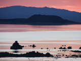 Predawn Light at Mono Lake Silhouettes Tufas  California  USA