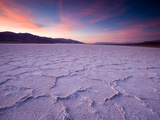 Pressure Ridges in the Salt Pan Near Badwater  Death Valley National Park  California  USA