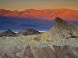 First Light on Zabriskie Point  Death Valley National Park  California  USA