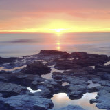 Sunset Cliffs Tidepools on the Pacific Ocean Reflecting the Sunset  San Diego  California  USA