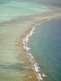 Aerial of Barrier Reef  Lighthouse Atoll  Belize