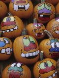 Painted Pumpkins for Halloween  Acton  Massachusetts  USA
