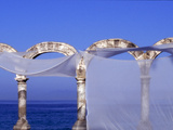 Arches and Sheets of Transparent Gauze Along the Malecon Boardwalk  Puerto Vallarta  Mexico