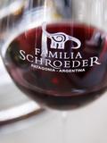 Detail of Glass  Bodega Familia Schroeder Winery  Neuquen  Patagonia  Argentina