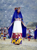 Woman in Costume for Inti Raimi Festival of the Incas  Cusco  Peru