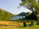 Adirondack Chairs on the Lawn of the Jordan Pond House  Acadia National Park  Mount Desert Island