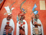 Murals in Mayan Temple  Bonampak  Museum of Mexican History  Monterrey  Nuevo Leon  Chiapas  Mexico