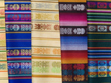 Colorful Shawls Displayed at Market  Quito  Ecuador