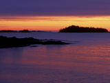Spring Sunrise Silhouettes Edwards Island and Clouds on Lake Superior  Isle Royale National Park