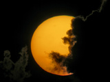 Dark Clouds and Sun at Sunset  Fort De Soto Park  Florida  USA