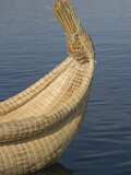 Bow of Reed Boat  Uros Islands  Floating Islands  Lake Titicaca  Peru