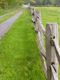 Split Rail Fence and Farm Road  Essex County  Ipswich  Massachusetts  USA