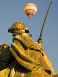 Statue and Hot Air Balloon  San Miguel De Allende  Mexico