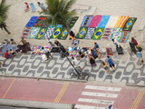 Aerial View of Ipanema Beach  Rio De Janiero  Brazil