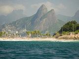 Praia De Diabo  Arpoador Near Copacabana Beach  Brothers Peaks Behind  Rio De Janiero  Brazil