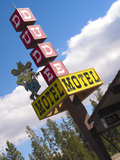 Dude Motel Sign  West Yellowstone  Montana  USA