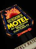 Sundown Motel Sign  Sheridan  Wyoming  USA