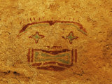 Detail of Pictograph or Rock Painting  the Starry-Eyed Man  Hueco Tanks State Historic Park