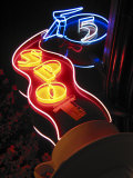 Nighttime Sign for 5 Spot Diner  Seattle  Washington  USA