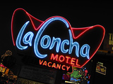 La Concha Motel Sign  Las Vegas  Nevada  USA