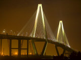 Arthur Revenel Bridge at Night  Charleston  South Carolina  USA