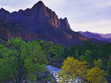 The Watchman Peak and the Virgin River  Zion National Park  Utah  USA