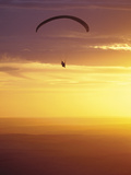 Hang Glider at Sunset  Palouse  Washington  USA