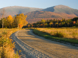 Valley Road in Jefferson  Presidential Range  White Mountains  New Hampshire  USA
